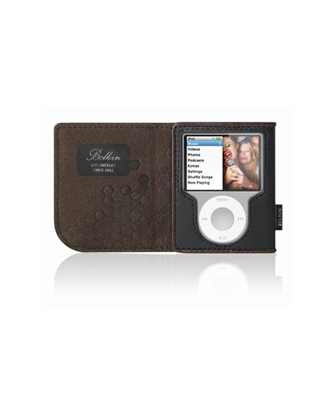 Belkin Leather Folio for iPod nano - Black / Chocolate